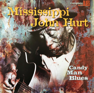 Mississippi John Hurt ‎- Candy Man Blues  (LP) (EX-/VG-)